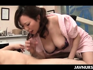 Nasty nurse playing slut with her patient in asian sexual congress movie