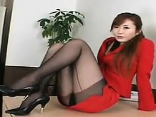 Beautiful Asian With Sexy Legs