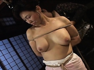 Grown-up bitch gets roped up increased by hung in a bdsm session