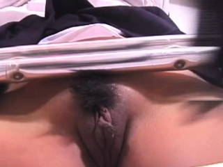 Nipp pinching on a roped dear gal