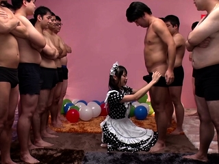 JAV notability Airi Natsume CFNM maid blowjob cumshot Subtitled
