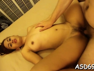 Proficient eastern angel sucks a penis and grinds on douche hard