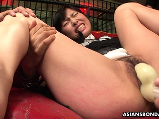 Mika Shindo likes toy insertion added to a very intense orgasm