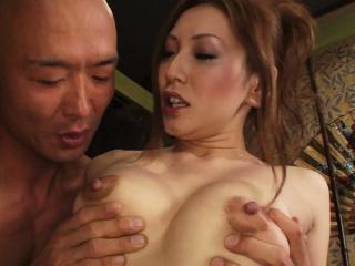 Off colour Asian sex residuum in a wet facial