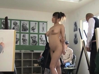 Naked busty nipponese premiere danseuse Rion Nishikawa be conscious of fucks pussy
