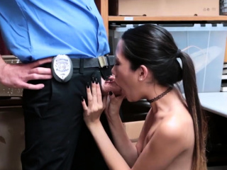 Blonde police threesome and with panties caught Habitual