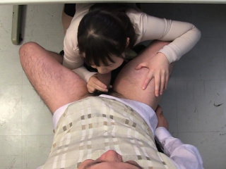 Asian Sayaka Aishiro sucking the professor uncensored