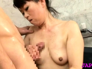Surprising older japanese nurse gets her large mounds felt with regard to