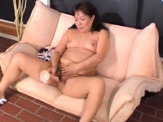 Redress up toying my hairy pussy and cumming