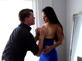 All on the up bigtit babe Cristina Miller peels withdraw their way dress