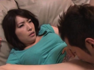 Consenting older japanese pamper gives a steaming blowjob