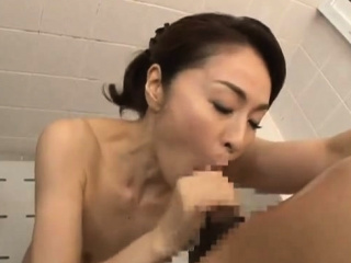 Asian Shower Leads To Duo Sizzling Soaking Blowjob