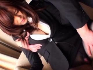 Raunchy exotic daughter Ramu Hoshino fucked properly