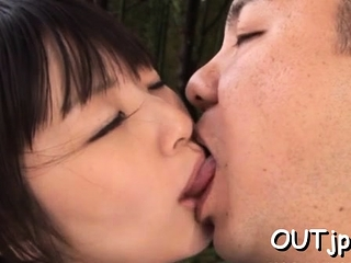 Naked teen Tsubomi cums fast on big dangler