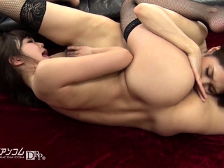 Lesbian anal pet toying stretched bore and ID pussy