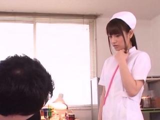 Alluring teen gal Ai Nikaidou with round tits blows sausage