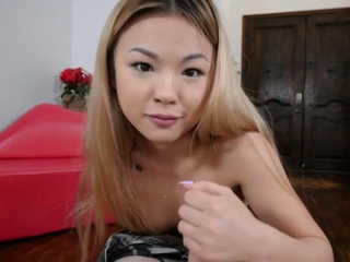 Petite asian stepsis is fingered by stepbro with an increment of deepthroats