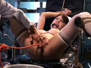 Seat plugged stockings clad fetish hoe toys their way pussy