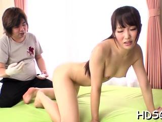 Absorbing tolerant Ai Mizushima caresses fat outfit