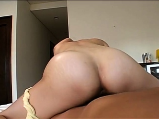 Presley Hart fills her small mouth with a meaty snack