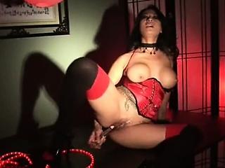Playful korean chick masturbates